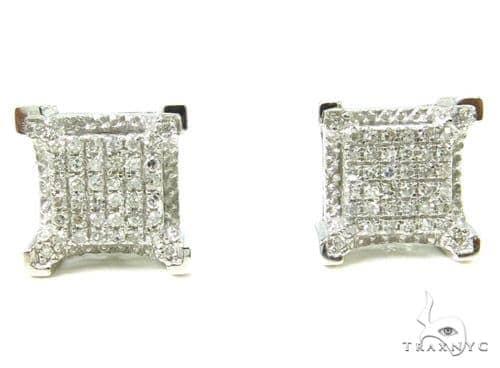 Prong Diamond Earrings 37654 Stone