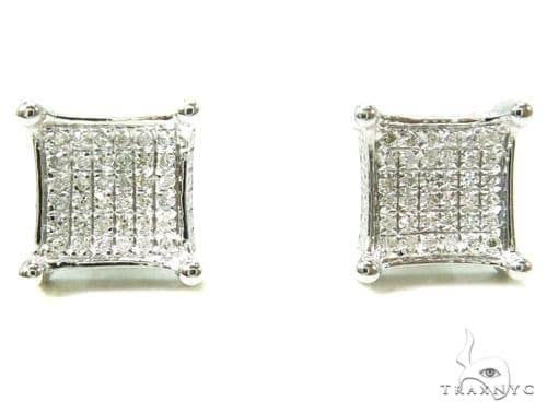 Prong Diamond Earrings 37663 Stone