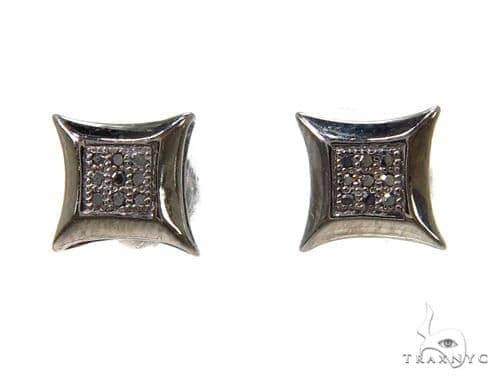 Prong Black Diamond Earrings 37697 Stone