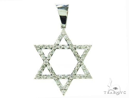 Star of David Diamond Pendant Metal