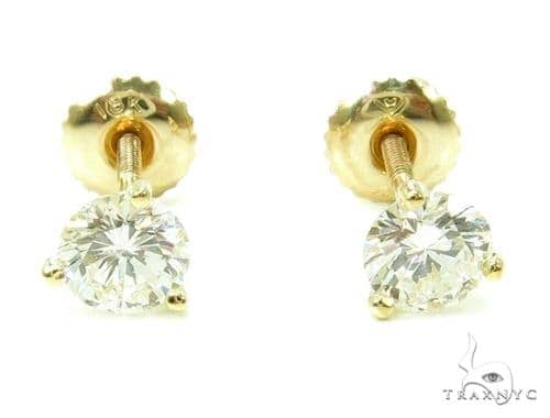 Prong Diamond 18k Gold Earrings 37735 Style