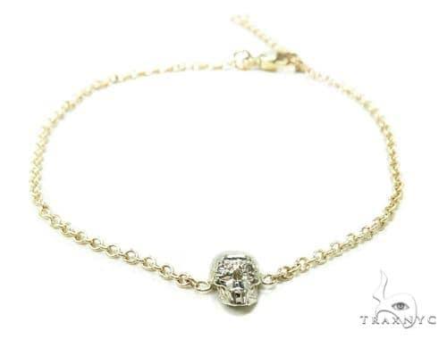 Prong Diamond Skull Bracelet 37736 Diamond