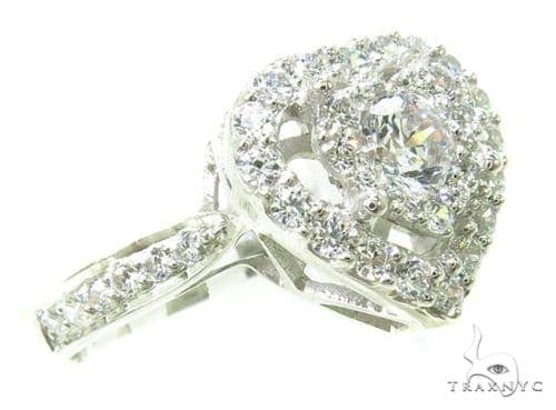 Prong Diamond Heart Ring 37763 Engagement