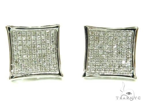 Prong Diamond Earrings 37904 Stone