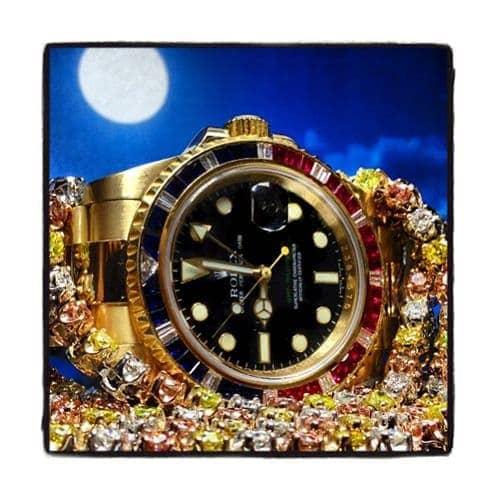 Rolex GMT II Yellow Gold 116758 Diamond Rolex Watch Collection