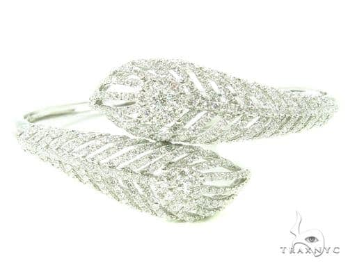 Prong Diamond Leaves Bangle Bracelet 38000 Diamond