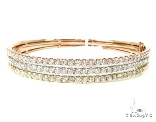 Prong Diamond Bangle Bracelet 38006 Bangle