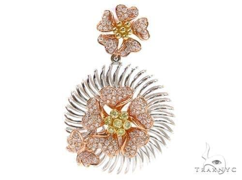 Prong Diamond Three Thone Pendant 38021 Stone