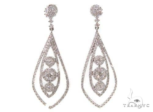 Prong Diamond Chandelier Earrings 38024 Style