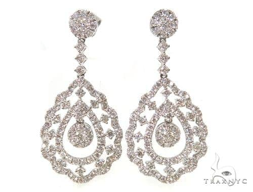 Peahen Diamond Chandelier Earrings 38029 Style
