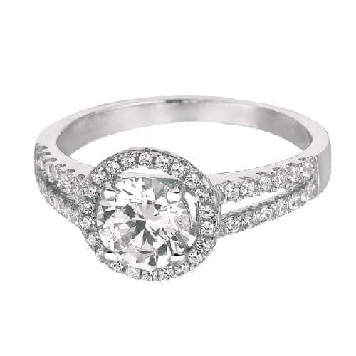 Silver Rhodium Finish 1.9mm Shiny Round Top Size 7 Ring Anniversary/Fashion