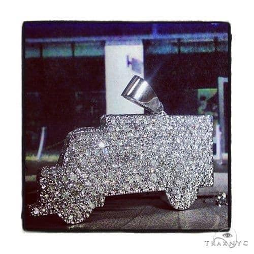 Custom Diamond Truck Pendant 39269 Metal