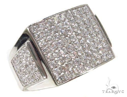 Prong Diamond Square Ring 39383 Stone