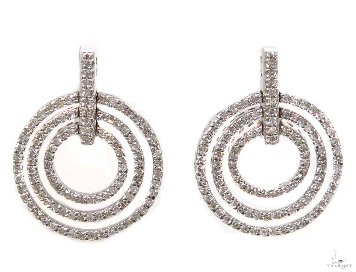 Prong Diamond Earrings 39425 Stone