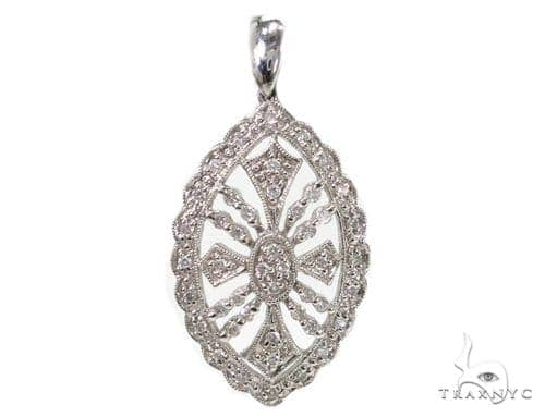 Bay Leaf Diamond Pendant 39439 Stone