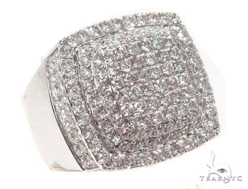 Prong Diamond Square Ring 39465 Stone