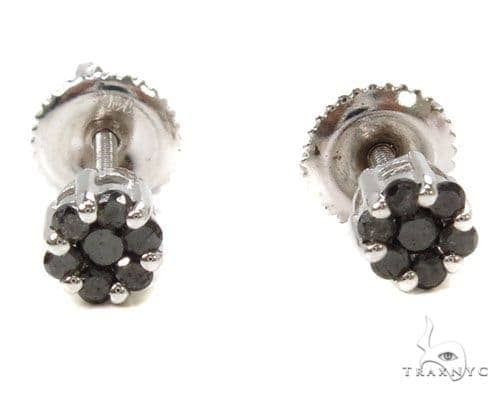 Prong Black Diamond Earrings 39487 Stone