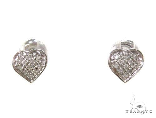 Prong Diamond Heart Earrings 39489 Stone