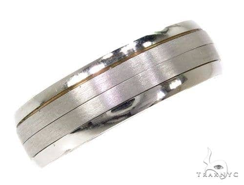 Mens Striped Wedding Band Style