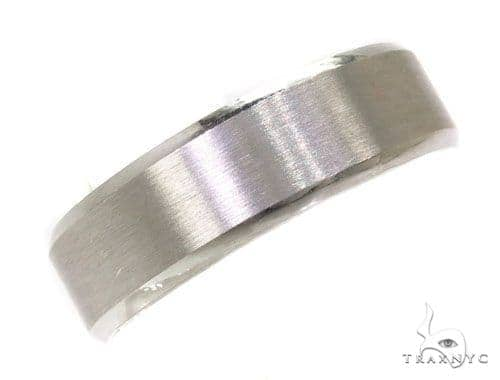 Mens Plain Frosted Wedding Band 39498 Style