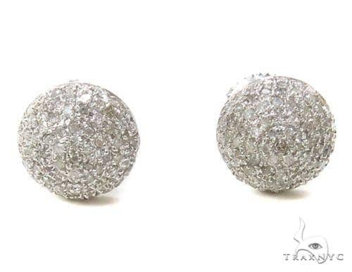 Prong Diamond Earrings 39507 Stone