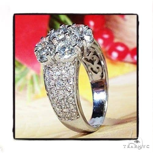 Prong Flower  Diamond Ring 39610 Anniversary/Fashion