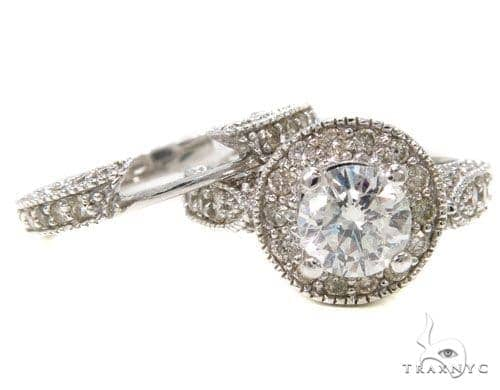 Prong Diamond Wedding Ring Set 39693 Engagement