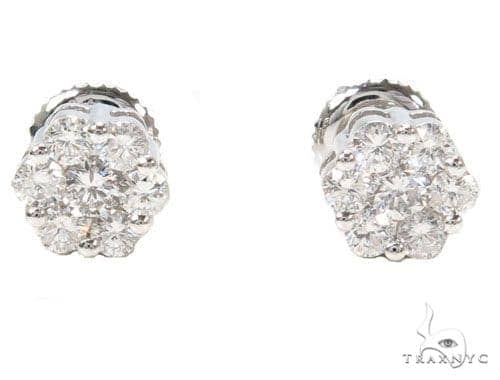 Prong Diamond Earrings 39845 Stone