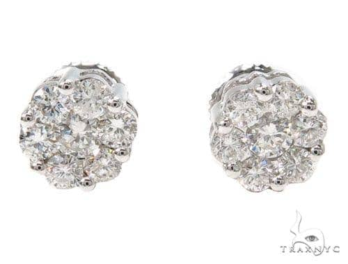 Prong Diamond Earrings 39847 Stone