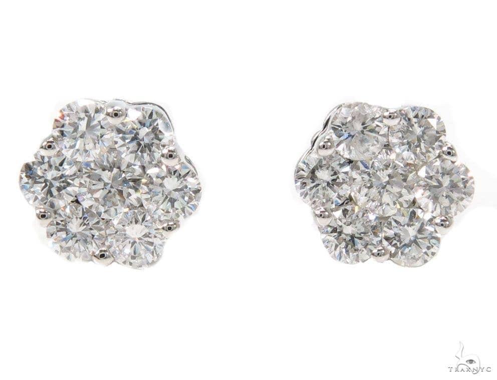 Prong Diamond Earrings 39848 Stone