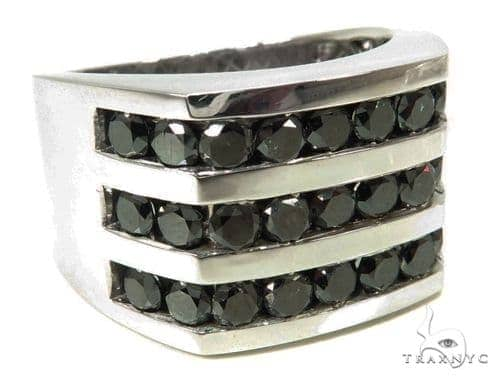 Channel Black Diamond Ring 39925 Stone