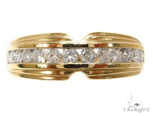 14k Yellow Gold Channel Ring-39957 Wedding
