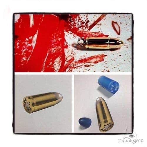 14k Gold Bullet Pendant-39983 Metal