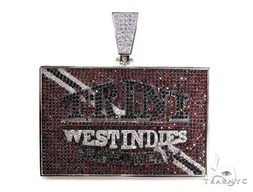 Custom Sterling Silver Trini Pendant-40013 Metal