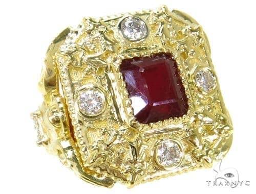 Bezel Ruby Diamond  Angel Ring-40018 Anniversary/Fashion