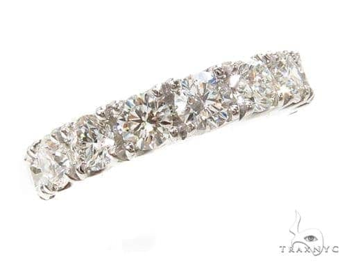14k White Gold Prong Anniversary Diamond Ring-40027 Wedding