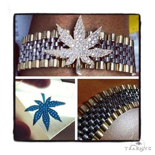 14k Gold Diamond Maple Leaf Bracelet-40034 Diamond