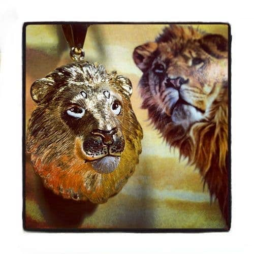 Custom Lion King Diamond Pendant-40110 Metal