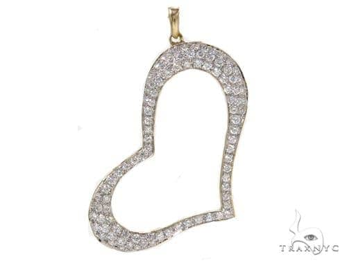 Prong Diamond Heart Pendant-40133 Style
