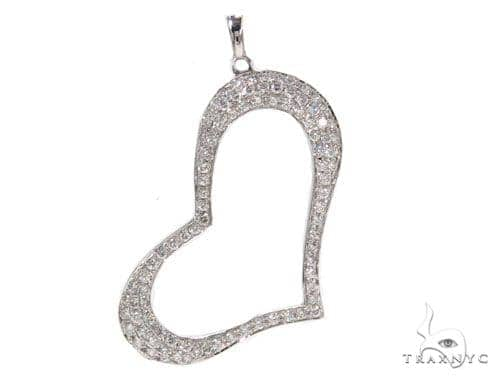 Prong Diamond Heart Pendant-40134 Style
