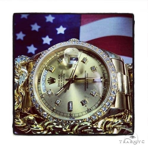 Rolex Day-Date Yellow Gold Watch 218238 Diamond Rolex Watch Collection