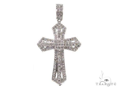 Prong Diamond Key Pendant 40225 Style