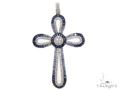 Prong Diamond Cross Crucifix Pendants 40230 Style