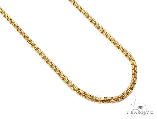 Round Box Gold Chain 16 Inches 3mm 5.8 Grams 40244 Gold