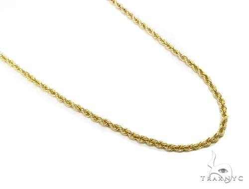 Rope Gold Chain 18 Inches 2mm 1.80 Grams 40355 Gold