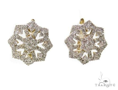 Prong Diamond Earrings 40363 Stone