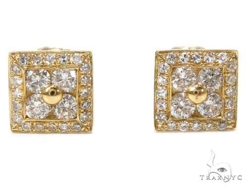 Prong Diamond Earrings 40383 Stone