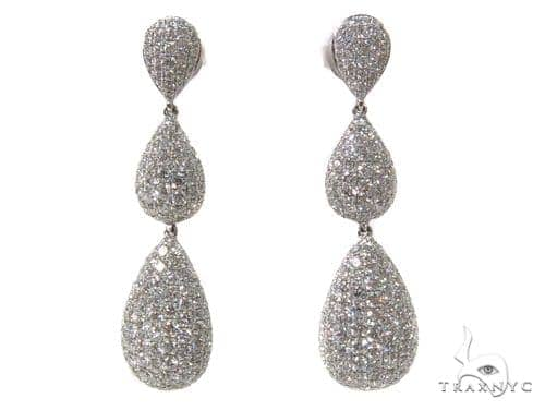 Tear Drop Diamond Chandelier Earrings 40398 Style