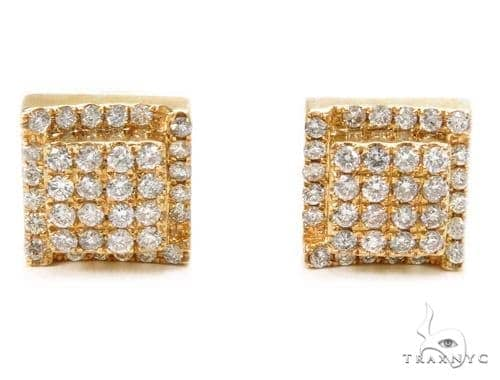 Prong Diamond Earrings 40535 Stone