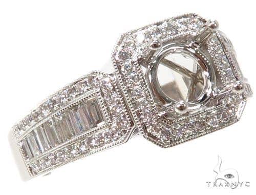 Prong Diamond Semi Mount Ring 40663 Style